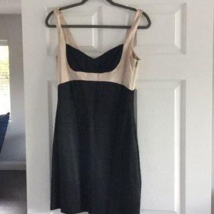 Silk BCBG beige and black short dress